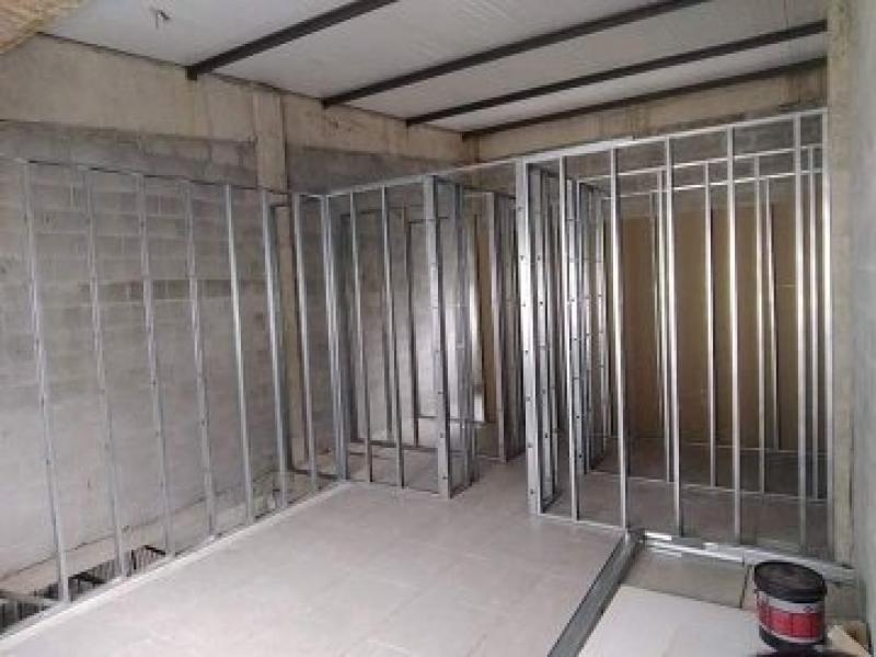 Parede Drywall Estrutura Preço Parada Modelo - Parede Drywall