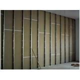 divisória de drywall acústica