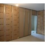 divisória de drywall com porta