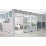 divisória drywall com vidro