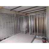 parede drywall estrutura preço Parada Modelo