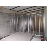 parede drywall estrutura preço Recreio dos Bandeirantes